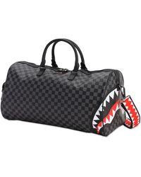 Sprayground Grey Sharks In Paris Duffle Bag - Schwarz