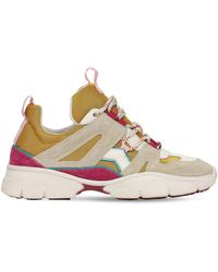 Isabel Marant 30mm Kindsay Mesh & Suede Trainers - Multicolour