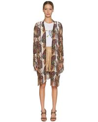 Etro - Kimono De Punto De Viscosa Con Flequillo - Lyst
