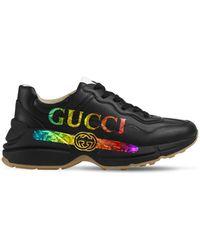 Gucci Rhyton レザースニーカー 50mm - ブラック