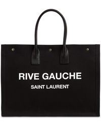 Saint Laurent Ysl Rive Gauche トートバッグ - ブラック