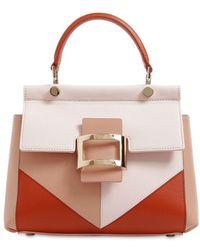 Roger Vivier - Mini Viv' Leather Top Handle Bag - Lyst