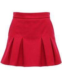 RED Valentino Шорты-юбка Из Трикотажа - Красный
