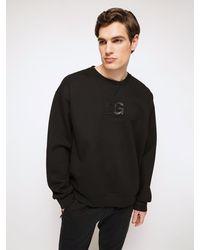 Dolce & Gabbana Хлопковый Свитшот С Рельефным Рисунком - Черный