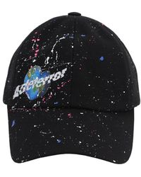ADER error Splatter Painted Print Baseball Hat - Schwarz