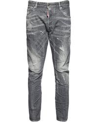 """DSquared² 17cm Jeans Aus Stretch-denim """"tidy Biker"""" - Grau"""