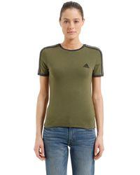 Yeezy T-shirt Aus Baumwolljersey Im Baby Fit - Grün