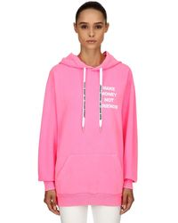 MAKE MONEY NOT FRIENDS - Sweat-Shirt À Capuche En Coton Imprimé Logo - Lyst