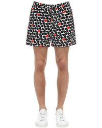 """MSGM Shorts """"lvr Exclusive"""" In Popeline Di Cotone - Nero"""