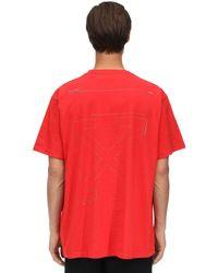 Off-White c/o Virgil Abloh - T-Shirt Oversize En Coton Imprimé - Lyst