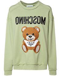 Moschino Teddy Bear コットンジャージースウェットシャツ - グリーン