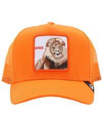 Goorin Bros Strong King Patch Baseball Hat - Orange