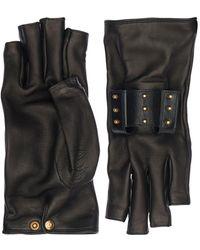 Gucci Кожаные Перчатки - Черный