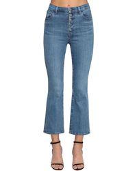 J Brand Jeans Acampanados De Denim De Algodón - Azul