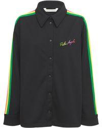 Palm Angels Miami テクニックシャツ - ブラック