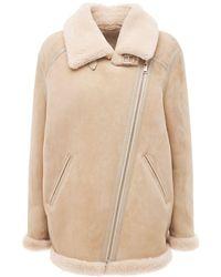 Étoile Isabel Marant Azario Shearling Jacket - Natural