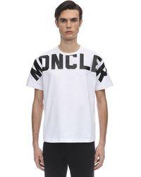 Moncler T-Shirt mit Logo-Print - Weiß