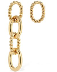 ISABEL LENNSE - Mismatched Chunky Chain Twist Earrings - Lyst