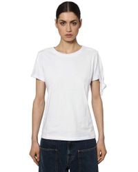 JW Anderson - Knotted Cotton Jersey T-shirt - Lyst