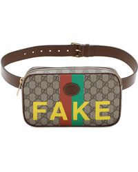Gucci - Сумка На Пояс Gg Supreme Fake Not - Lyst