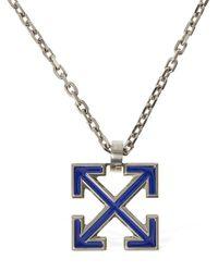 Off-White c/o Virgil Abloh Enamel Big Arrow Long Necklace - Metallic