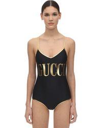 Gucci Costume stretch con stampa - Nero
