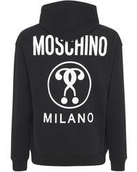 Moschino Shiny Icon フーディー - ブラック
