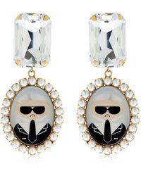 Bijoux De Famille - Karl Cameo Pendant Earrings - Lyst