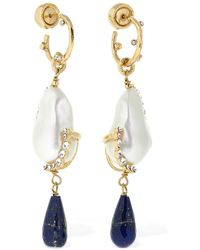 Givenchy Midnight Lapis Lazuli Drop Earrings - Metallic