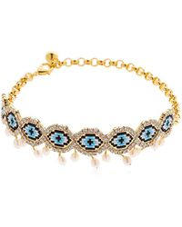 Shourouk - Eye Beaded Choker W/ Pearls - Lyst