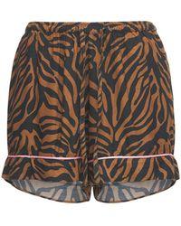 """Underprotection Pantalón Corto Pijama """"rania"""" Con Estampado Tigre - Multicolor"""