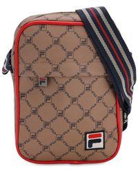 Fila Allover Logo Crossbody Bag - Коричневый
