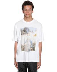 Marcelo Burlon オーバーサイズコットンジャージーtシャツ - ホワイト