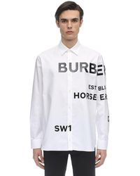 Burberry Horseferry Print Oversized Shirt - White