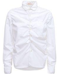 Marni ルーシュドコットンシャツ - ホワイト