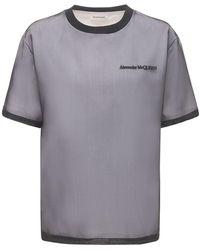 Alexander McQueen - コットンジャージー&シルクtシャツ - Lyst