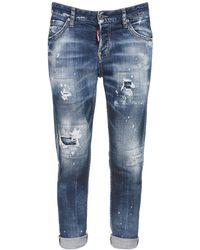 "DSquared² Jeans ""cool Girl"" De Denim De Algodón Desgastados - Azul"
