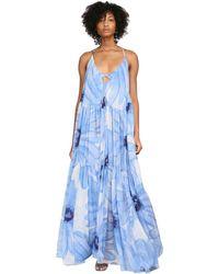 Jacquemus フローラルモスリンドレス - ブルー