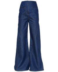 Esteban Cortazar - Flared Cotton Denim Jeans - Lyst