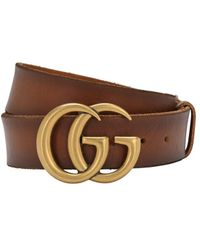 Gucci - Кожаный Ремень Gg 4см - Lyst