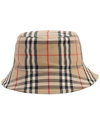 Burberry Panel Bucket Hat - Natural