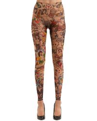 DSquared² - Leggings In Tulle Stampa Aloha - Lyst