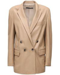 Zeynep Arcay Gem Leather Jacket - Natural