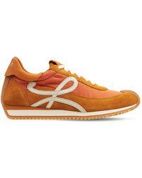 Loewe Кроссовки Из Нейлона И Замши 20мм - Оранжевый