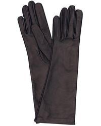 Mario Portolano Long Leather Gloves - Blue
