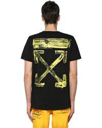 Off-White c/o Virgil Abloh T-shirt Oversize In Jersey Di Cotone - Nero
