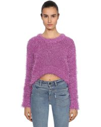 "Filles A Papa - ""Maglia Cropped """"tinsel"""""" - Lyst"
