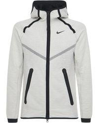 "Nike Enger Hoodieaus Technostoff ""wr Fz"" - Natur"