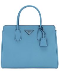 """Prada Handtasche Aus Leder """"galleria"""" - Blau"""
