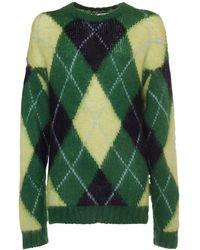 KENZO Sweater Aus Mohairmischstrick - Grün